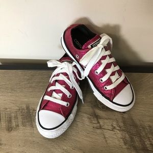 CONVERSE All Star PINK GLITTER Chucks SNEAKERS 11